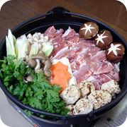会津地鶏鍋セット(盛付け済-3~4人前)4,100円